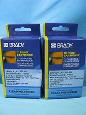 2 Genuine Brady Label Cartridge M21 500 430 Blackclear Polyester 12x21 Bmp21