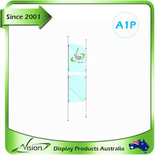Real Estate Agent Window Display Kits, Acrylic Cable Poster Holder Kits 2xA1P
