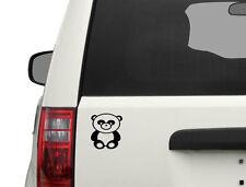 Panda decal, panda car sticker, panda laptop decal rn