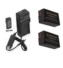 TWO 2X DMW-BLC12 DMW-BLC12E  DMW-BLC12PP Batteries + Charger for Panasonic