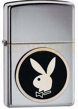 Zippo Playboy  Bunny Emblem 310046 chrom poliert Neu Sammlerstück in Metalldose