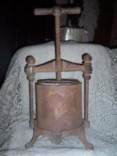 Antique #2 Cast Iron 4 Quart Wine Apple Cider Fruit Lard Cheese Press Juicer