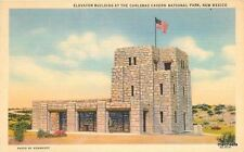 1940s Elevator Building Carlsbad Caverns Flag New Mexico White Teich 1923