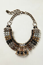 Anthropologie Batik Beaded Collar, Mixed Stone Choker Necklace