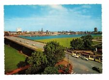 Germany - Dusseldorf, Oberkasseler Brucke - Vintage Postcard