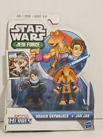 Playskool Heroes Star Wars Jedi Force Anakin Skywalker Jar Jar Figures-NEW