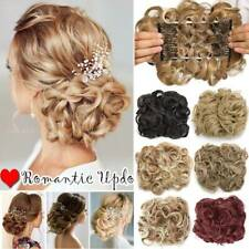 Extra THICK Rose Messy Bun Scrunchie Hair Extensions Ponytail Hairpiece AS Human