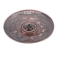 Retro Alloy Censer Plate Incense Burner Censer Coil Stick Holder Aromatherapy MP
