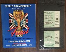 England World Cup 1966 SIGNED Programme & Tickets