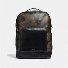 $550 NWT COACH Graham Backpack in Signature Canvas w/ Camo print F40652