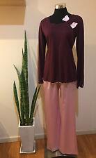 Pink & Burgundy DesiSlava Lingerie Pajama Set Size M