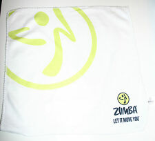 "ZUMBA WASHCLOTH / FLANNEL / SUPERMINI 12"" SQUARE TOWELET -  BRAND NEW"