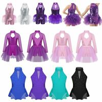 Girls Jazz Modern Tap Ballet Dance Dress Children Modern Performing Show Clothes