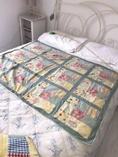 Vintage Baby quilt/playmat. Handmade patchwork. Suit girl or boy 48 X 39 inches.