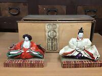 Y0930 NINGYO Heizo Ohki Hina Doll box Japanese vintage figure figurine antique
