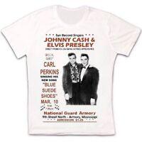 Jonny Cash Elvis Presley Concert Poster Retro Vintage Hipster Unisex T Shirt 676