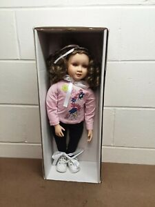 "My Twinn 23"" Doll ""The Just Like Me Doll"" Brown Curly Hair, Pink Eyes.  NIB"