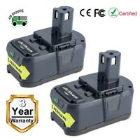 2 Pack New 18V 6.0Ah P108 Li-ion Replacement Battery for Ryobi 18V ONE+ Tool