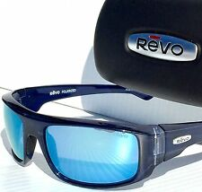NEW!  REVO DASH in Blue Metallic w Blue POLARIZED Lens Sunglass 5006 05 BL