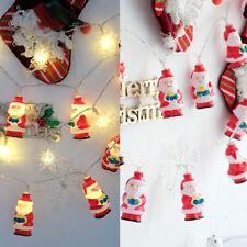 Waterproof 20LED Santa Claus String Light Fairy Light Christmas Xmas Decor 2m
