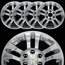 "4 New 2014-20 Silverado 1500 18"" Chrome Wheel Skins Hub Caps Aluminum Rim Covers"