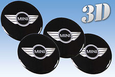 MINI 3D BMC  JOHN COOPER ROADSTER CABRIOLET WHEEL CENTRE EMBLEM DECALS STICKERS