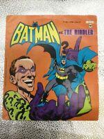 """Vintage Batman Vs The Riddler 7"""" 33 1/3 RPM Little LP F1293 Power Records 1975"""