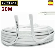 Cable Coaxial para Antena tv bobina 20 metros RG6U TDT SAT