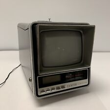 "AWESOME VINTAGE ZENITH 5"" B&W TV NO52S BLACK & WHITE AM/FM RADIO WITH AC ADAPTER"