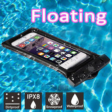Waterproof Floating Phone Case Dry Pouch Bag with Lanyard for iPhone S