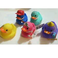 Infantino ducky Purple Birthday Yellow Teal waves Pink Blue Baseball set of 5
