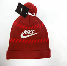 Nike Cold Weather Logo Adult Unisex Pom Pom Double Layered beanie hat OS NEW