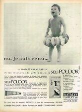 A- Publicité Advertising 1963 La Laine le pret à tricoter bébé Self Poldor