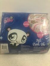Littlest Pet Shop Full Size Bed Flat and Fitted Sheet Set Pink Blue No P/cases