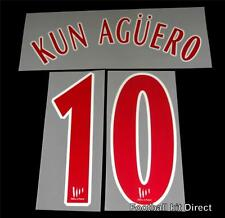 Official Atletico Madrid Kun Aguero 2005/06 Football Shirt Name/Number Set Away
