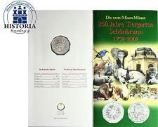 Österreich 5 Euro Silber Gedenkmünze 2002 Handgehoben: Tiergarten Schönbrunn
