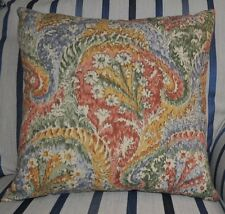 NEW 16inch reversible sipped cotton cushion Liberty 'Marand'  cream rust gold,