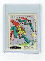 Sunbeam Bread DC Super Heroes Sticker Card #10 Dick Giordano Signed Supergirl