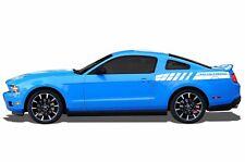Vinyl Decal Wrap Kit for 2010-14 Ford Mustang GT Emblem Rear Stripes MATTE WHITE
