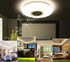 LED Music Flush Mount Modern Ceiling Light Lamp Fixture with Bluetooth Speaker