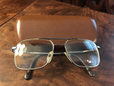 Vintage 70s Mirari for Luxottica Silver/Marble Tone Eyeglass Frames w/Hard Case