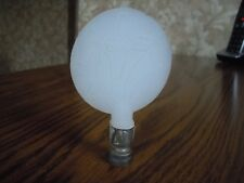 ALADDIN ALACITE ELECTRIC LAMP GLASS FINIAL - MILLEFLEUR - ETCHED CRYSTAL  - 1937