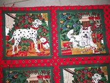 ERLANGER WESTIE & DALMATION DOG CHRISTMAS FABRIC REMNANT 30 x 41