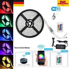 LED Stripe RGB Leiste Streifen 5050 Band WiFi APP Alexa Kontrolle +12V Netzteil
