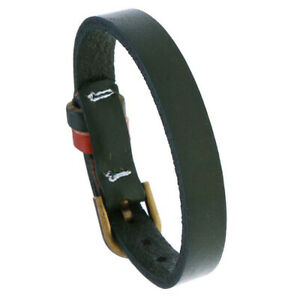 Mens Women Genuine Leather Bracelet Bangle Wristband Cuff Surfer Wrap Adjustable