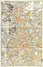 GENOA town/city plan. Genova. Italy 1953 old vintage map chart