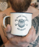 Personalised Enamel Mug Birthday Gift For a Bearded Hipster Man Gift For Him