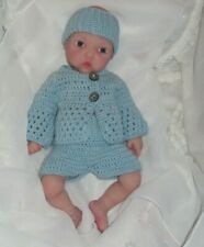 Baby Doll clothes hand knitted outfit for 12''-13'' (30 - 33 cm) baby doll