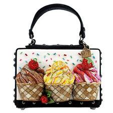 Mary Frances Baby Cakes Embellished Cupcake Bag Black Cake Cup Handbag Purse New