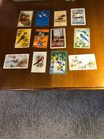 12 Vintage Swap Playing Trading Cards Birds & Ducks Card